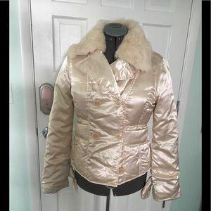 Bebe Rose Gold puffer Coat